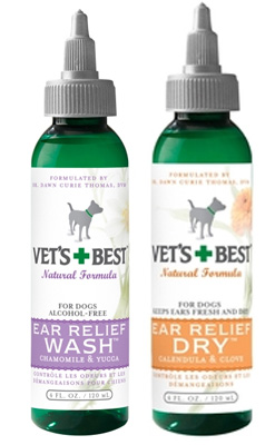 Ear Relief Wash or Dry 4oz, Vets Best