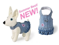 Blue Denim Flower Dress Harness