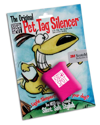 Pink Quiet Spot Tag Silencer