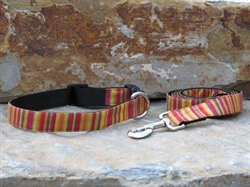 Hot Pepper-  Fabric Collars and Leashes