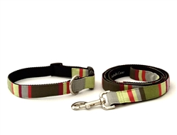 Arugula- Fabric Collars and Leashes