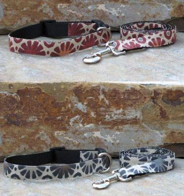 Summer Sunburst Fabric Collars and Leashes