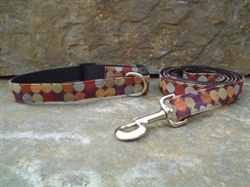 Dotty (Chocolate) Fabric Collars and Leashes