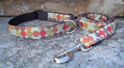 Dotty (Lime) Fabric Collars and Leashes