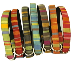 Abbington Square Striped Fabric Collars and Leashes