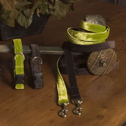 Horatio Street Velvet- Fabric Collars and Leashes
