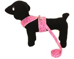 Pink Camo Harness and Leash