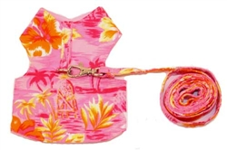 Pink Hawaiian Harness & Leash
