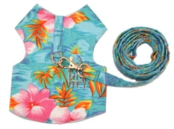 Blue Hawaiian Harness & Leash