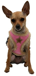 Pink Star Fur Harness Vest
