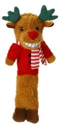 Multipet Loofa Reindeer Dog Toy