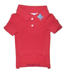 Red Button's Up Polo