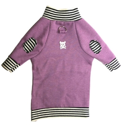 Patchworks, Purple Sweater*