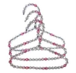 Pink Beaded Hangers