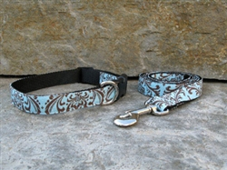 Blue Trellis Collars and Leashes