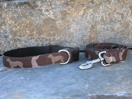 Wegman Rotator Chocolate Collars and Leashes