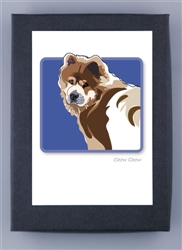 Chow Chow Looking Back - Grrreen Boxed Note Cards