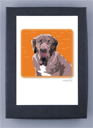 Mastiff - Grrreen Boxed Note Cards