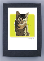 Cat, Tabby - Grrreen Boxed Note Cards