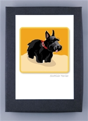 Scottish Terrier in Sand Field - Grrreen Boxed Note Cards