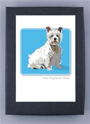 West Highland Terrier Sitting - Grrreen Boxed Note Cards