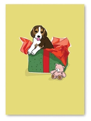 Birthday: Beagle Pup & Gift Box