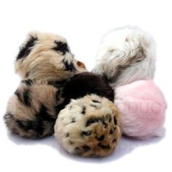 Tiki Squeaky Balls - Faux Fur Balls