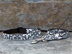 Black / White Trellis Collars and Leashes