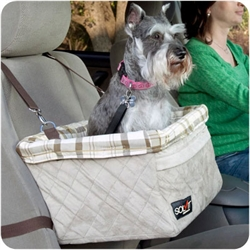 Large Deluxe Pet Car Booster Seat for pets up to 18lbs