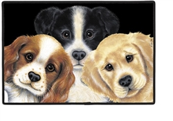 Peeping Puppies Doormat