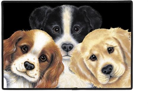 Peeping Puppies Doormat