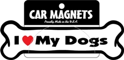 I (Heart) My Dogs Bone Magnets