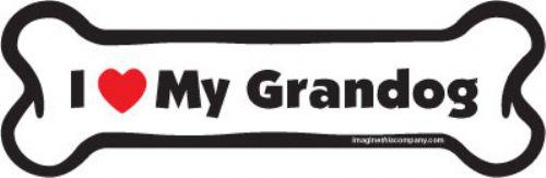 I (Heart) My Grandog Bone Magnets