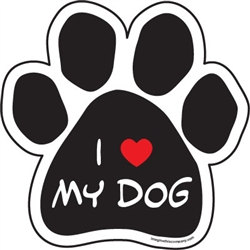 I (Heart) My Dog Paw Magnets