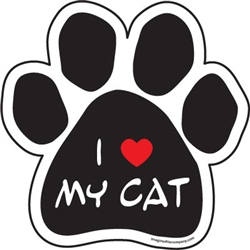I (Heart) My Cat Paw Magnets
