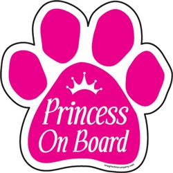 Princess on Board Paw Magnets