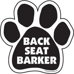 Back Seat Barker Paw Magnets