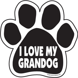 I Love My Grandog Paw Magnets