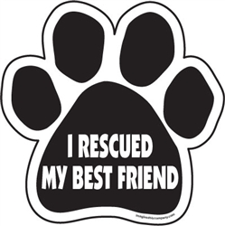 I rescued my best friend Paw Magnets