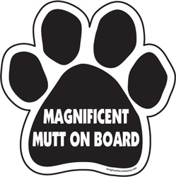 Magnificent Mutt On Board Paw Magnets