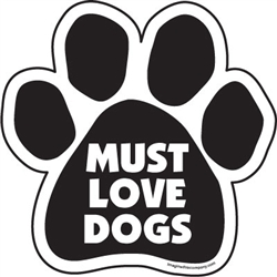 Must Love Dogs Paw Magnets