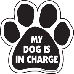 My dog is in charge Paw Magnets