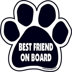 Best Friend On Board Paw Magnets