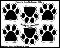 Mini Paw Magnets (6 paws per set)