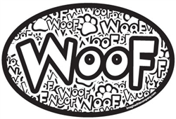 "Crazy ""woof"" Oval Magnets"