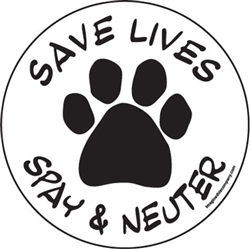 Save Lives, Spay & Neuter Circle Magnets