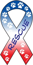 Rescue Ribbon Magnets in Red, White, & Blue