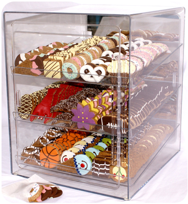 Empty 16 SKU Custom Acrylic Bakery Case