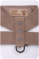 Fawn Crystal Paw Print Harnesses
