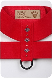 Red Crystal Paw Print Harnesses